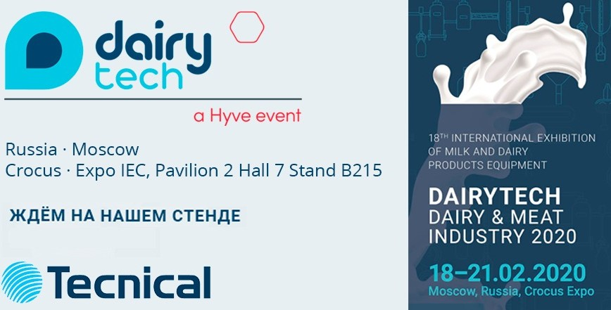Tecnical will be present at the Dairy & Meat Industrie 2020 trade show